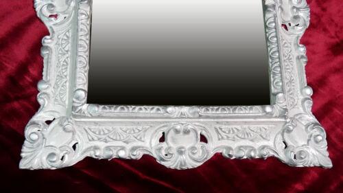 Barockrahmen Bilderrahmen für Bilder 29x22 cm in WEIß GOLD Fotorahmen 45x38 cm