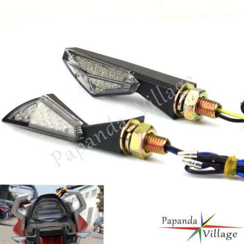 Pair 8mm Motorcycle ATV LED Turn Signal Indicator Light Blinker Universal Fit