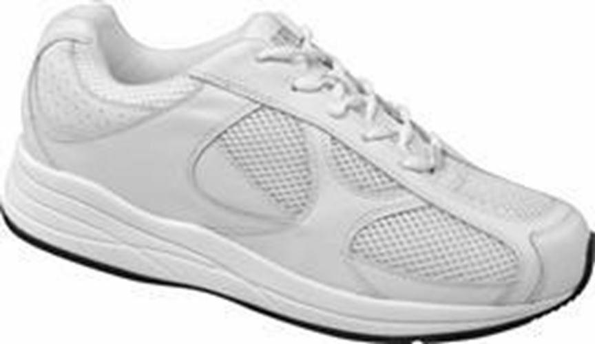 Drew Men's Surge White Leather Mesh Athletic shoes