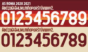 Roma 2020-2021 Away  Home Football Nameset for shirt Choose Any Name /& 2 Numbers