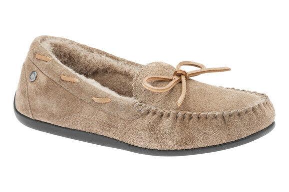 negozio di moda in vendita NIB - ABEO Donna  'HALIFAX -AVW011' SHEARLING LINING SUEDE SUEDE SUEDE Taupe MOCCASINS - 7  vieni a scegliere il tuo stile sportivo