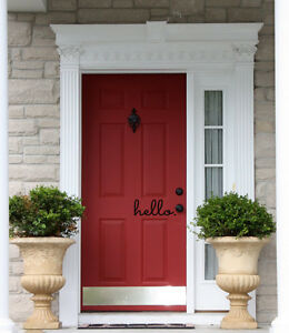 HELLO Front Door Welcome Entrance Wall Art Decal Words Quote Lettering Decor ...