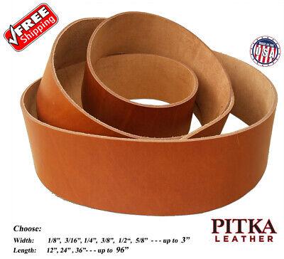 Dog collars - Guitar Straps Belts Russet Leather Strips 8-9 oz 3.2-3.6 mm