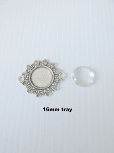 8 sets fancy connector link cabochon bezel settings jewellery diy craft UK