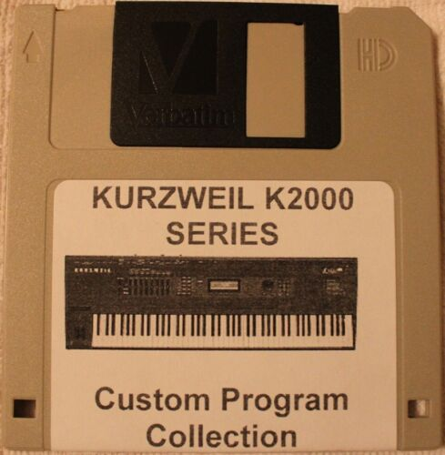 "Kurzweil K2000//K2500//K2600 Series Synthesizer /""5 in 1/"" Custom Program Collection"