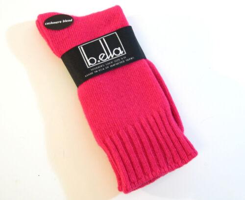 b.ella Ladies Wool Cashmere Angora Blend Crew Socks Este Fuchsia NEW