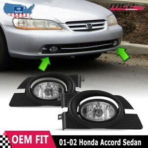 Details about For Honda Accord 98-02 Factory Replacement Fit Fog Lights on