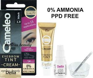 EYEBROW-BLACK-COLOR-TINT-CREAM-Kit-Set-Dye-OXYDANT-NO-AMMONIA-amp-PPD-Brow-Colour