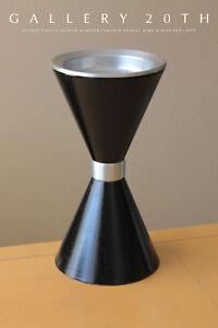 RARE-MID-CENTURY-MODERN-ATOMIC-PLANTER-VTG-BULLET-KIMBALL-1950-039-S-BLACK-ASHTRAY