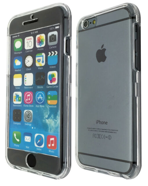 Clear plastic Case Full Cover Front&Back For iphone 6 6S / 6 plus iphone 4 5 5C