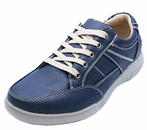 MENS-NAVY-LACE-UP-COMFY-LIGHTWEIGHT-SMART-CASUAL-WALKING-TRAINER-SHOES-UK-6-10