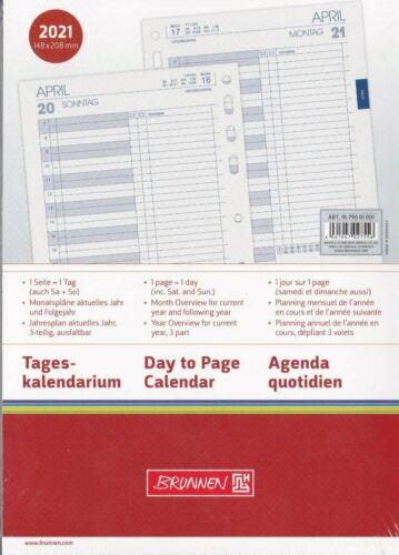 Kalendereinlage A5 2021 Brunnen  1Tag = 1Seite  Timereinlage  Art.Nr1079001001