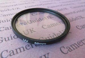 58mm-UV-Filter-Ultra-Violet-For-Nikon-Canon-Olympus-Sony-Camera-Lens-SLR-DSLR