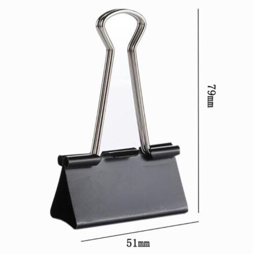 6 stücke Metall Binder Clips Büroklammer 51mm Office Learning Supplies StaR SP