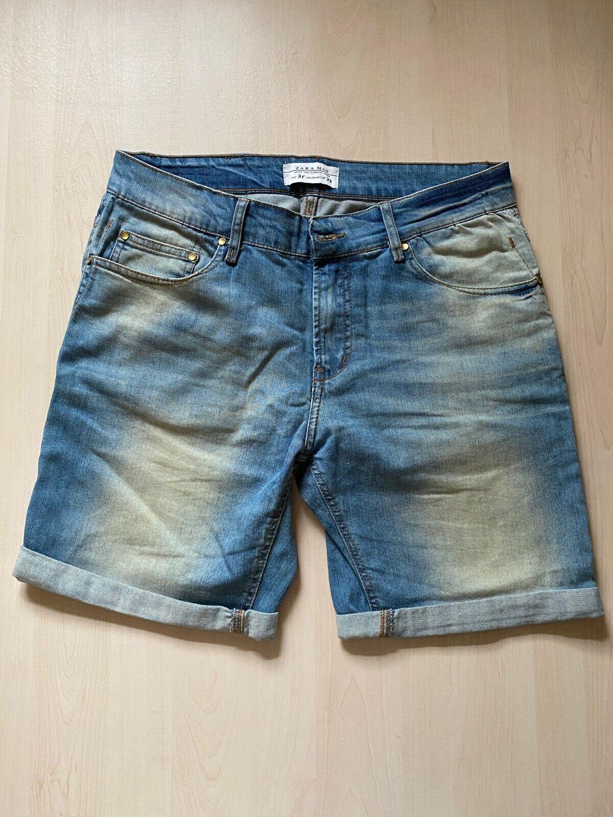 Kurze Herren Jeans Hose Gr. 38 (Zara) entspr. Gr. S Baumwolle