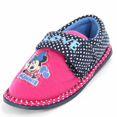 Girls Minnie Mouse Slippers Shoes Pink Red Polka Dot Children/'s Size UK 6-12