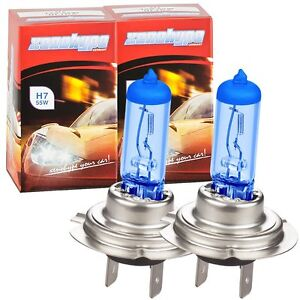 BMW-3er-E46-Bj-2001-2005-Xenon-Look-H7-In-Vision-Blue-Birnen-Lampen