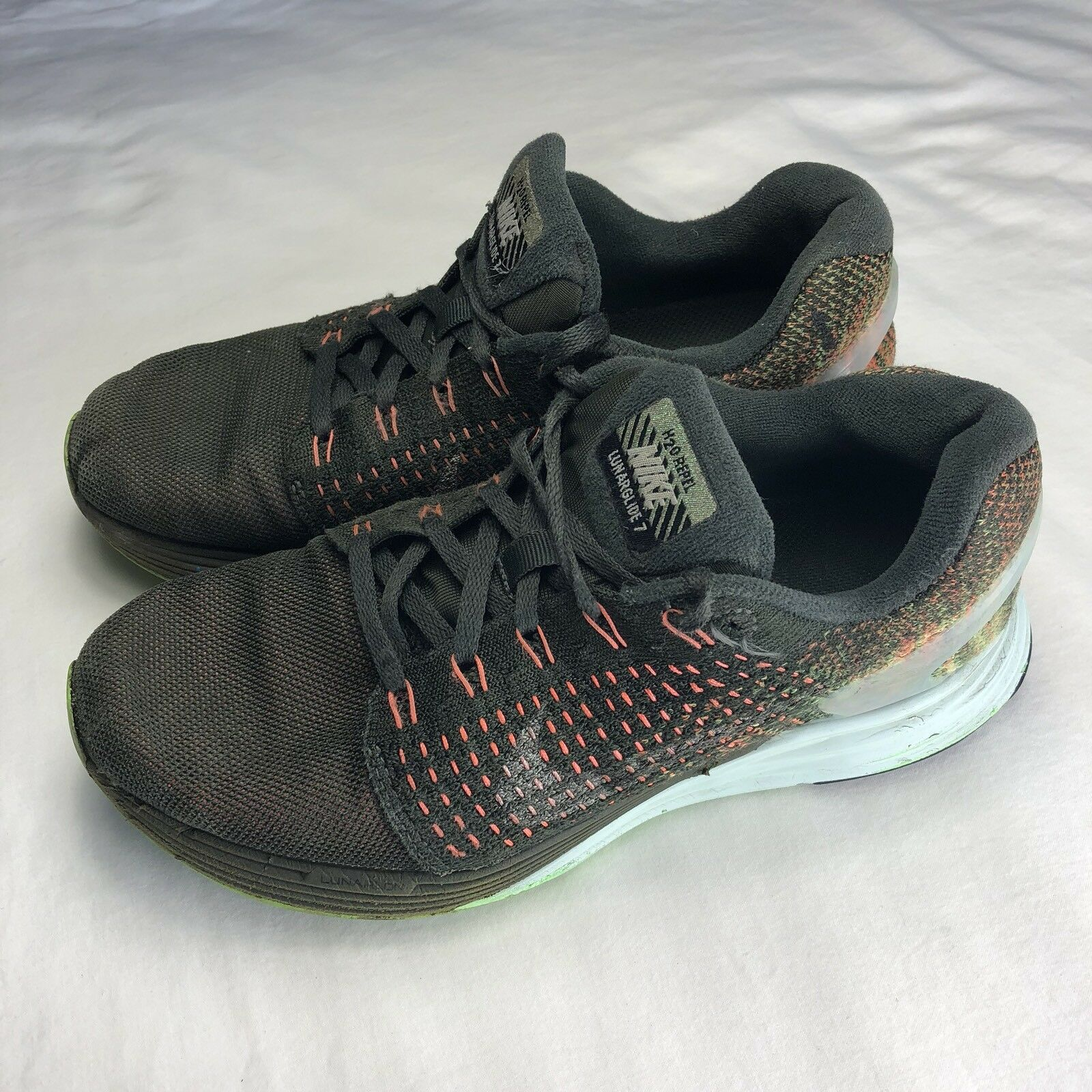 NIKE LUNARGLIDE 7 SHIELD Dark Loden Volt H2O Repel Running Shoes 6.5 Athletic best-selling model of the brand