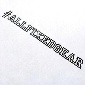 ALLFIXEDGEAR Knockout Black - Fixedgear Decal, sticker, fixed gear, vinyl, bike