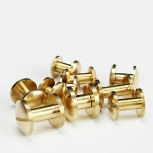 20pcs-Solid-Brass-Binding-Chicago-Screw-Stud-Studded-Leather-Craft-Handmade