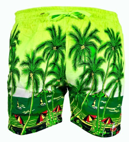 Pantaloncini da uomo hawaiana spiaggia palma più Tasche Sport Vacanza Mesh BAULI M-3XL