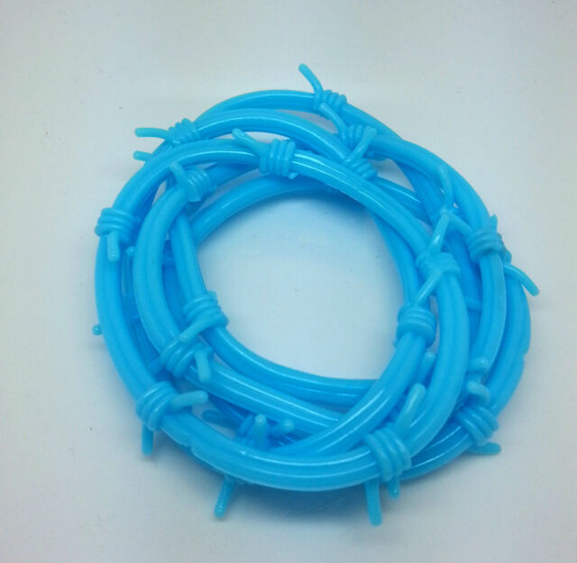 5X Spike Wristband Bangle Jelly Shag Band Gummy Rock Punk Gummies Bracelet