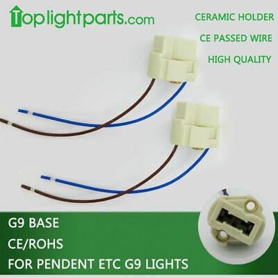 5pcs x High Quality G9 Lampholder Socket Light Lamp Holder Ceramic LED GU9 VDE