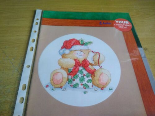 CROSS STITCH CHART FOREVER FRIENDS CHRISTMAS BEAR CHART wrapping present