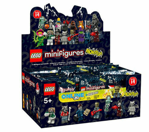 LEGO 71010 SERIES 14 CASE OF 60 MINIFIGURES PACKS PACK SEALED BROWN BOX