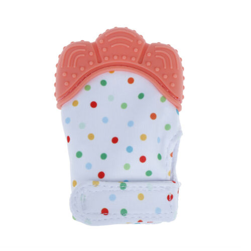 Newborn baby teething silicone mittens gloves teether dental caYT