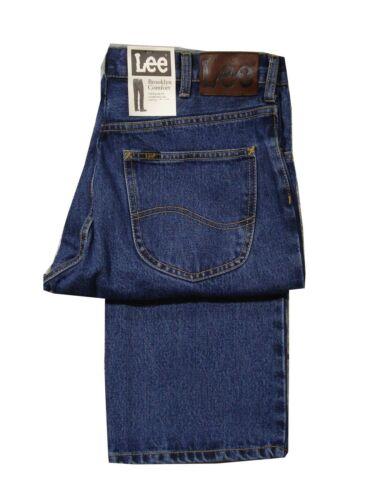 Scuro Slavati Lee Rider Brooklyn Tradizionale Comodi Gamba Jeans Patta con Zip
