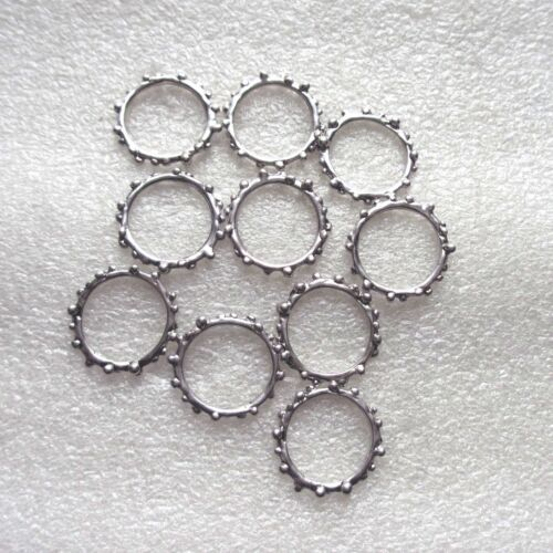 10 x Solid Connector Rings with Ridged Edge 2cm Craft//Jewellery Making 01918