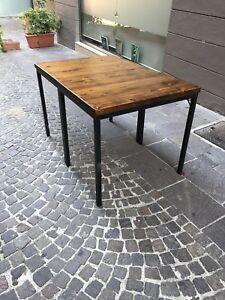 Tavolo Industrial Chic.Dettagli Su Tavolo In Ferro Industrial Design Stile Industrial Chic Anche Su Misura