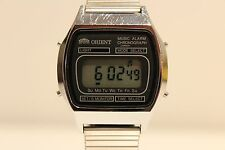 "VINTAGE RARE MEN'S DIGITAL MUSIC ALARM CHRONOGRAPH WATCH""ORIENT"" G862302-40CA"