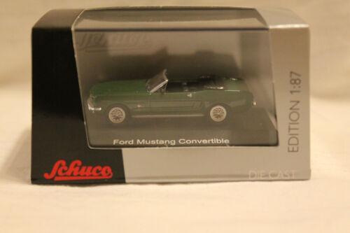 Schuco 452611800 Ford Mustang Convertible Cabrio grün 1:87