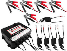 5 Bay 6/12v Smart Charger/Tender for Car Motorcycle Truck Boat Battery 2YR WRNTY