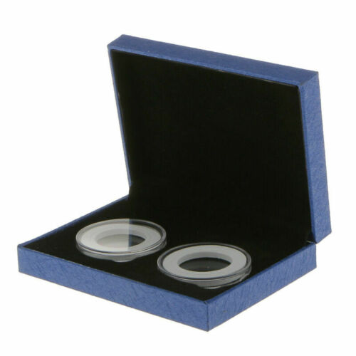 1pcs Coin Holder Display Box Capsule Holder Case For 40mm Commemorative Blue
