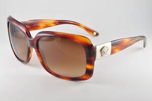 e62a750efd35d Versace VE 4190 163 13 Striped Havana Womens Sunglasses 725125708838 ...
