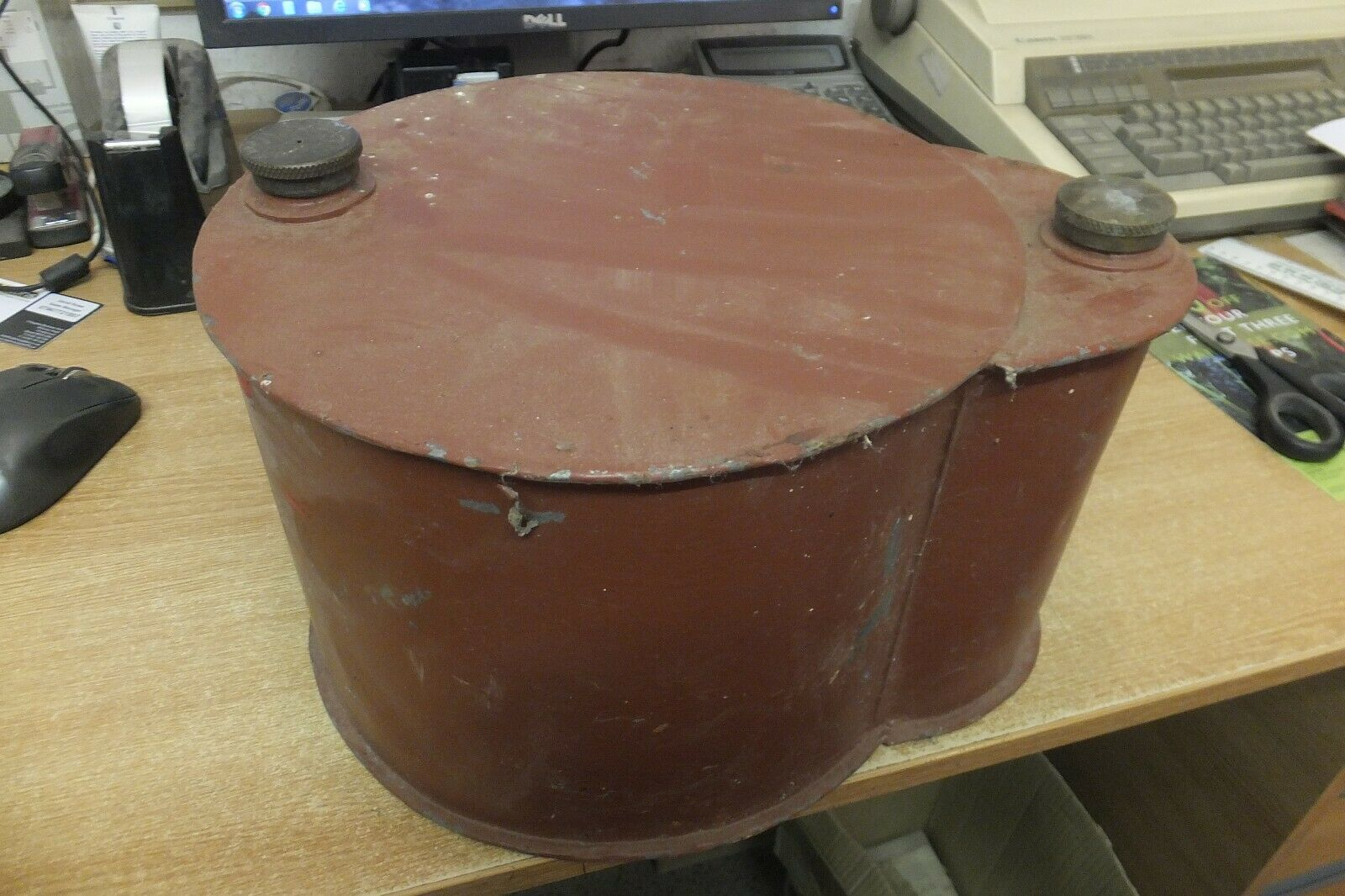 fuel tank petrol paraffin believed to be for a powell stationary engine vintage