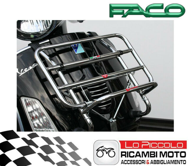PORTAPACCHI ANTERIORE CROMATO PER VESPA GT SUPER GTS 125 250 300