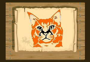 Thoughtful-Cat-Face-Stencil-350-micron-Mylar-not-thin-stuff-Cat101