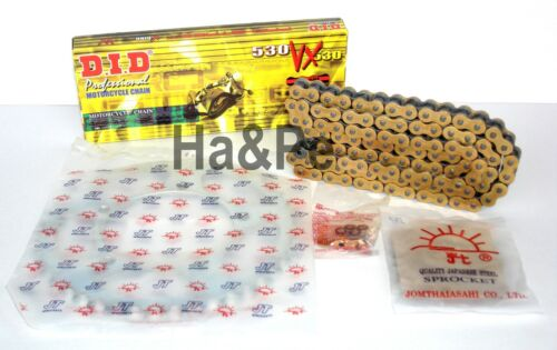 * Kawasaki ZZR 1100 DID Kettensatz chain kit VX 530 G/&B gold 1990-1992
