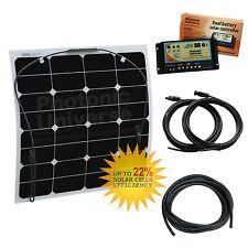 Batería 50W 12V Flexi Dual Kit de carga solar Autocaravana Camper Van 12 voltios de recarga
