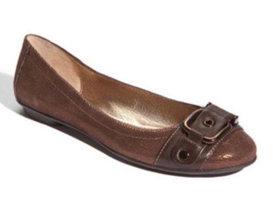 NIB Sofft Mytalini Copper Metal Confetti LEATHER Ballet Flats Shoes Donna 6 M