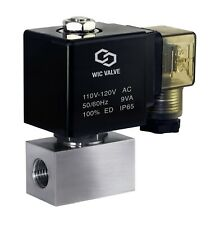 High Pressure Stainless Energy Save Electric Solenoid Valve Nc 14 Inch 110v Ac