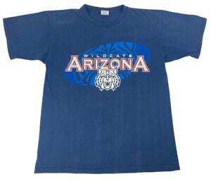 Arizona-Wildcats-Starter-mens-Adult-T-Shirt-Blue-Crew-Neck-Cotton-Tee-M