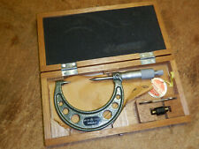 Mitutoyo 112 214 Carbide Tipped Metric Point Micrometer With Case Possible New