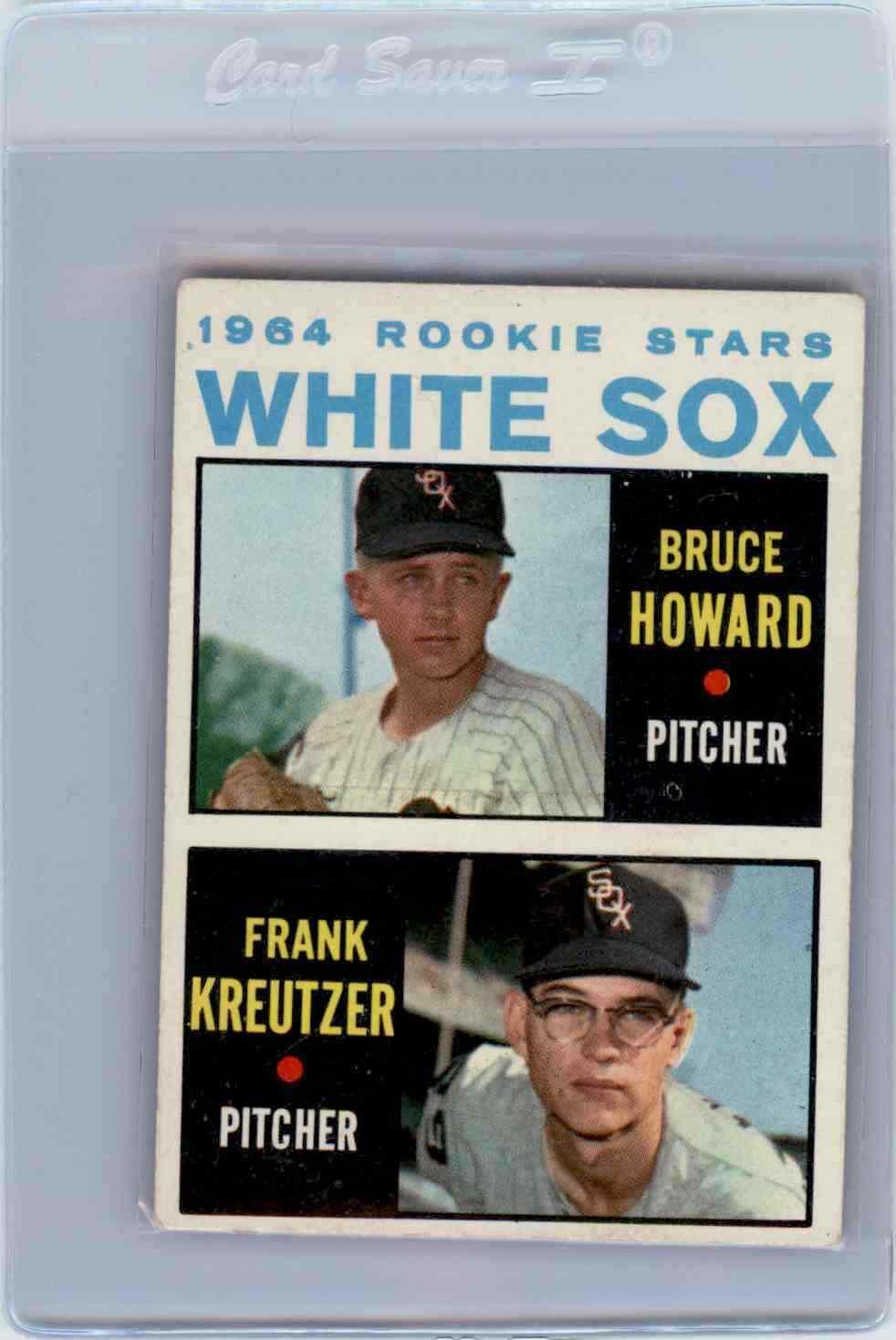 1964 Topps White Sox Rookies Bruce Howard,Frank Kreutzer #107