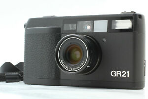 """"""" TOP MINT w/ Hood """" Ricoh GR21 35mm Point & Shoot Film Camera From JAPAN #621"""