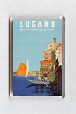 Vintage Travel Poster Fridge Magnet - Lugano, Suisse, Switzerland (2)